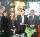 Councillor Stephen Castle and his wife at the ADI stand