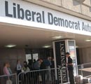 Entrance to the Lib Dem Party Conference in Brighton