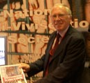 Minister Lord Rooker at NAVS stand