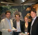 Tom Brake MP and Dan Rogerson MP visit the ADI and NAVS stan