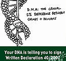 Your DNA is telling you to sign...